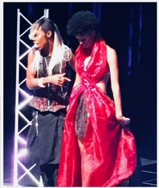 "Tristan Lee - DiVo Stars ""Red Ribbon Sickle Cell Awareness Dress"
